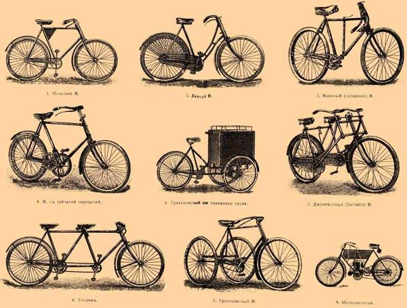 Велосипеды. История развития велосипеда.